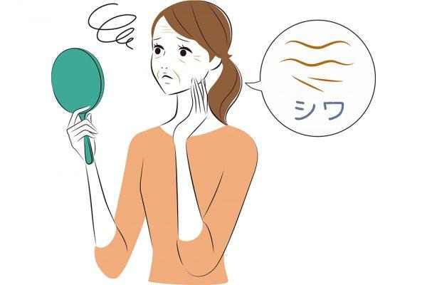 シワというのは、皮膚の表面にできる細い筋のような線のことです。